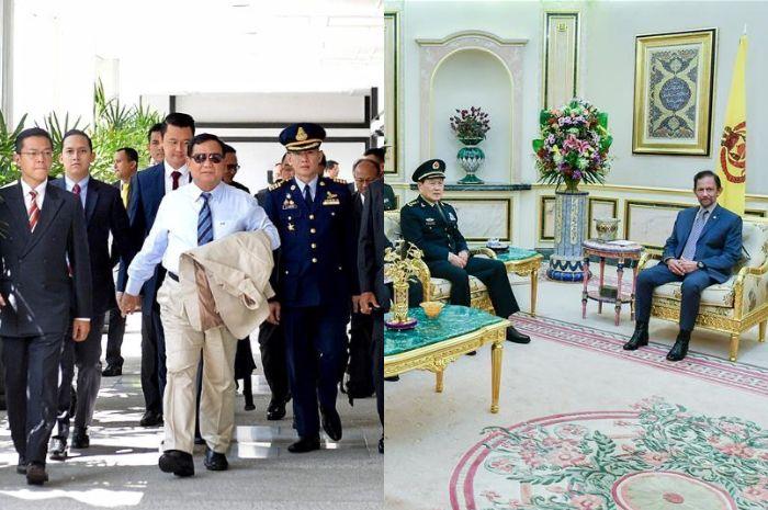 Jawaban Prabowo bikin gigit jari, Menhan Tiongkok kini dekati Sultan Brunei /Instagram @rizky_imansyah/Xinhua (Foto: Pikiran-rakyat.com)