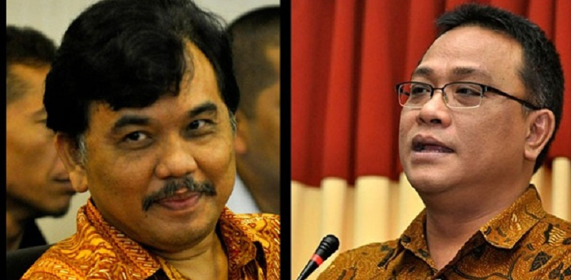 Sekretaris Eksekutif KAMI, Syahganda Nainggolan, dan deklarator KAMI, M. Jumhur Hidayat