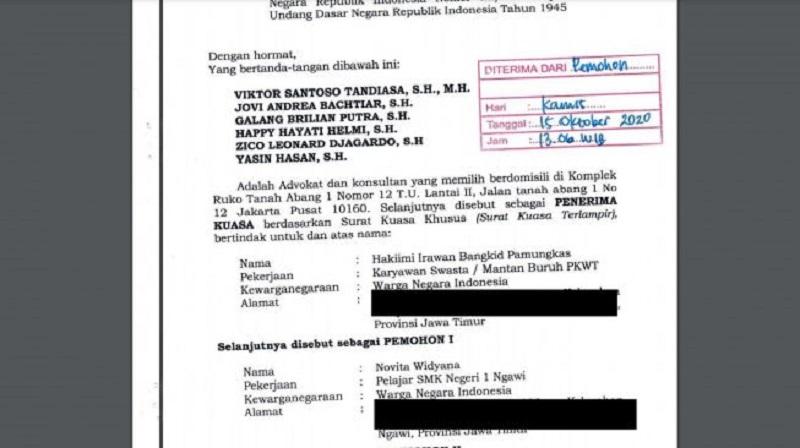 Siswi SMK Gugat UU Cipta Kerja ke Mahkamah Konstitusi