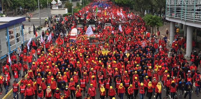 Ada Demo Buruh Siang Ini Di Istana, Berikut Jalan Yang Ditutup