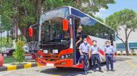 Bukan Kerbau, Ini Bus Listrik di Madiun