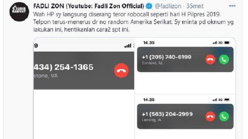 FADLI ZON Langsung Diteror setelah Minta Kapolda Metro Tanggung Jawab di Twitter,Lapor ke Mahfud MD
