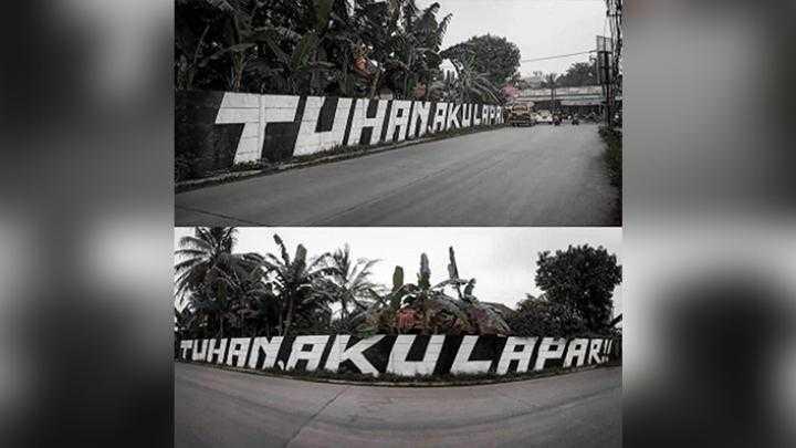 Viral Mural Tuhan Aku Lapar di Tangerang, Polisi: Hanya Penyaluran Aspirasi