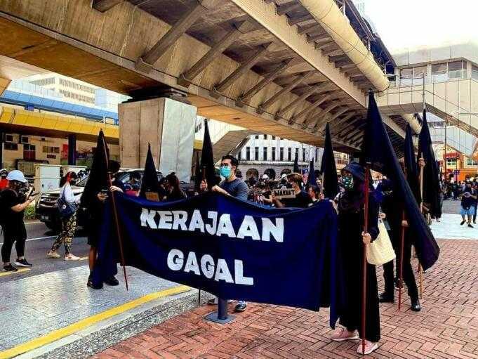 Ratusan Anak Muda di Malaysia Unjuk Rasa Desak PM Muhyiddin Mundur