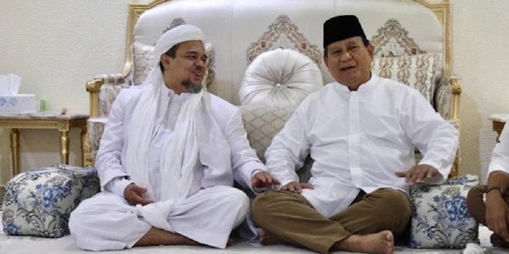 Prabowo Subianto Harus Balas Budi Baik Habib Rizieq Shihab saat Pilpres