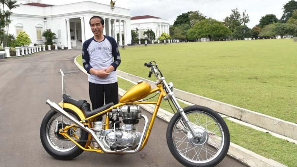 Harta Jokowi Naik tapi Motor Chopper Emas Tak Ada di Daftar, Dijual?