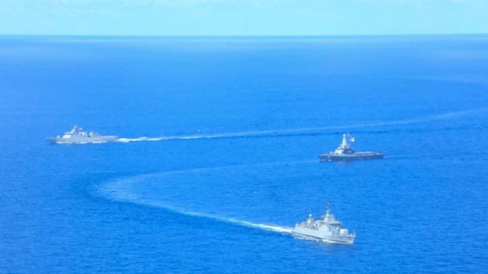 TNI AL dan Angkatan Laut Singapura Gelar Latihan Perang di Laut Natuna