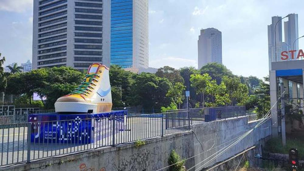 Bangun Tugu Sepatu di Jalan Sudirman, Wagub DKI: Kita Ingin Mempercantik Kota